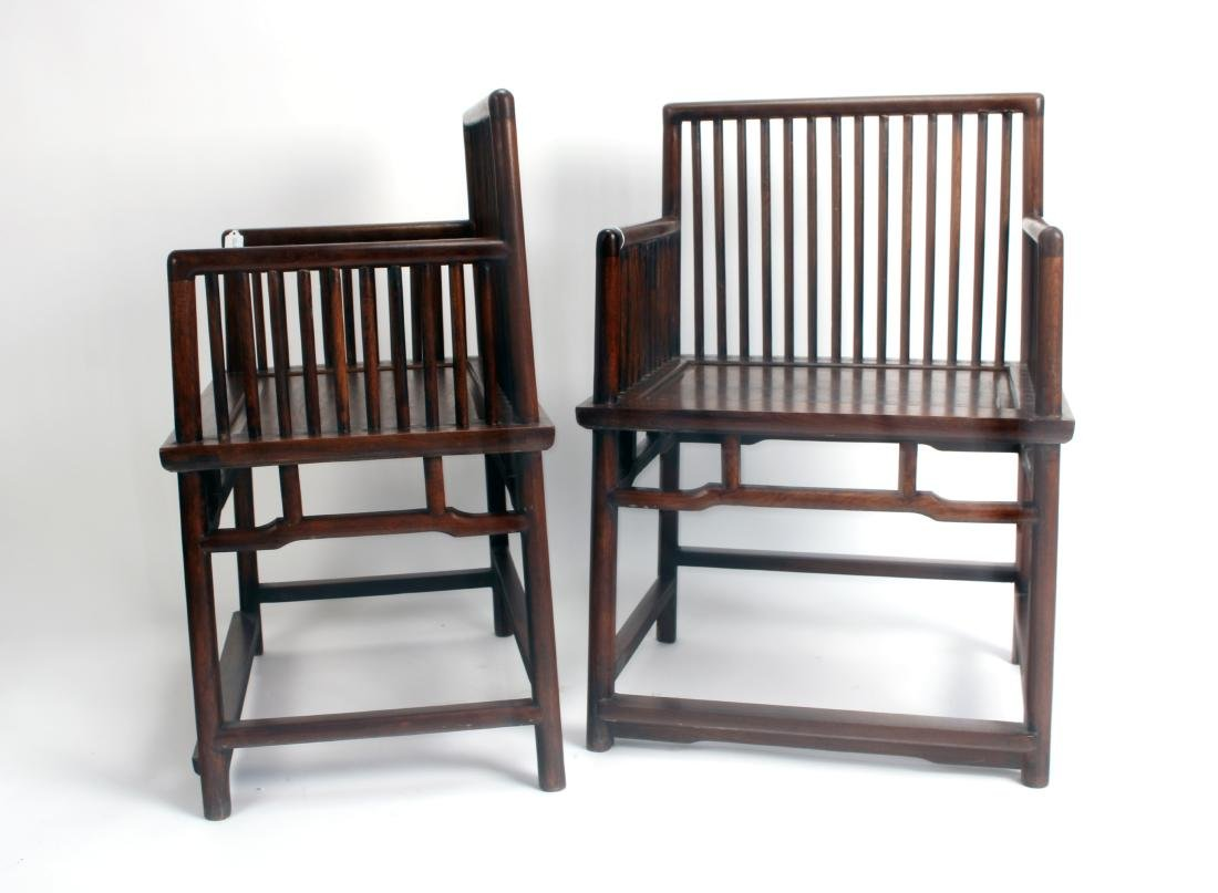 PAIR OF 19TH C. HUANGHUALI ROSE CHAIRS