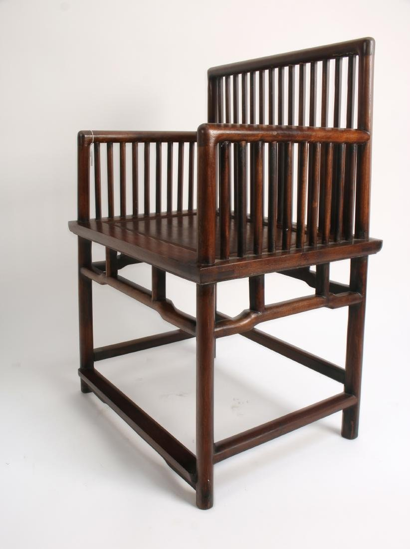 PAIR OF 19TH C. HUANGHUALI ROSE CHAIRS - 4