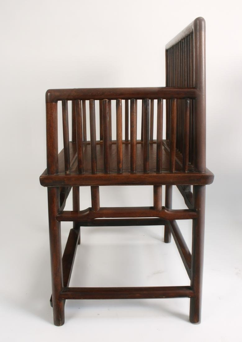 PAIR OF 19TH C. HUANGHUALI ROSE CHAIRS - 5