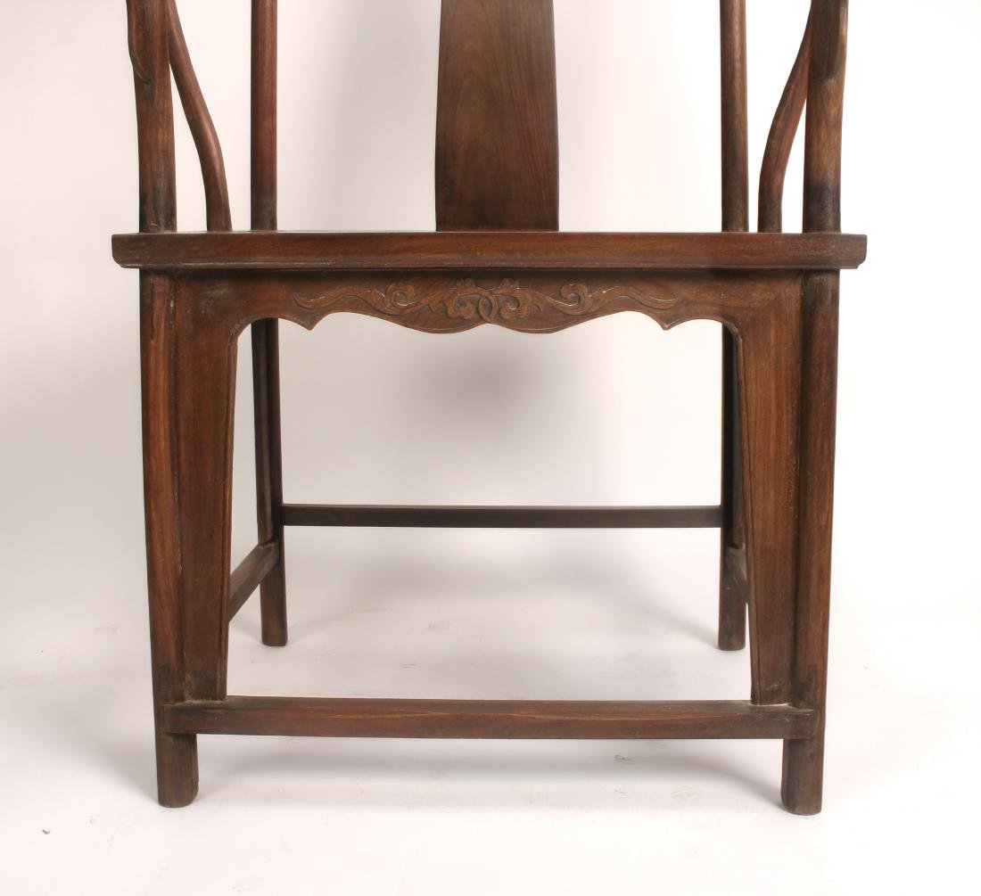 PAIR OF HUANGHUALI HORSESHOE CHAIRS - 6