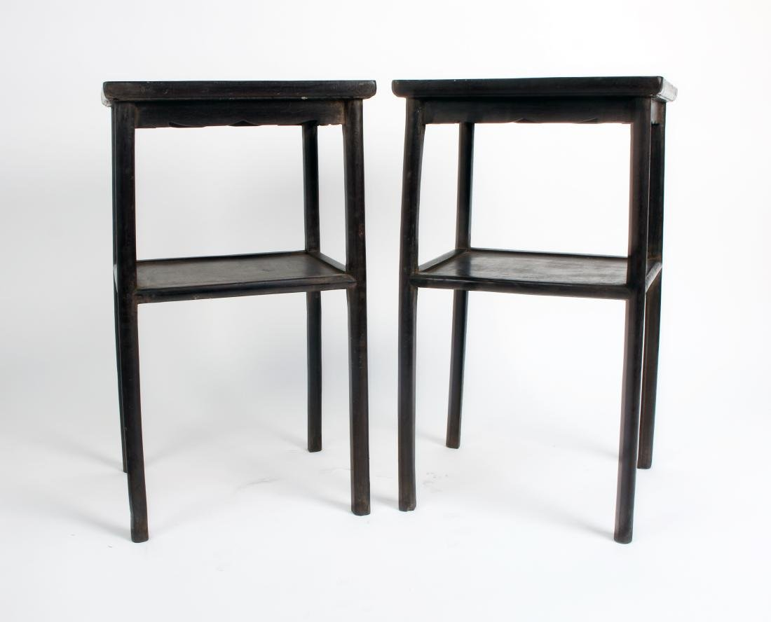 PAIR OF ZITAN END TABLES