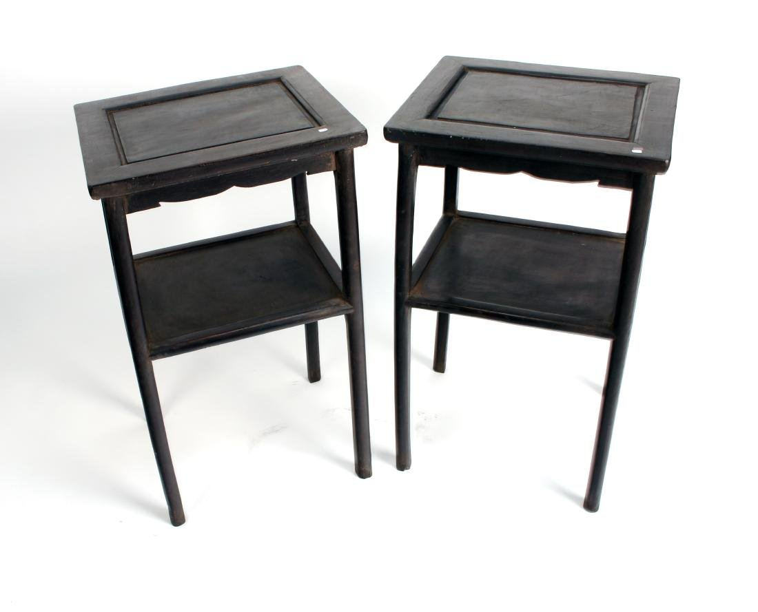 PAIR OF ZITAN END TABLES - 2