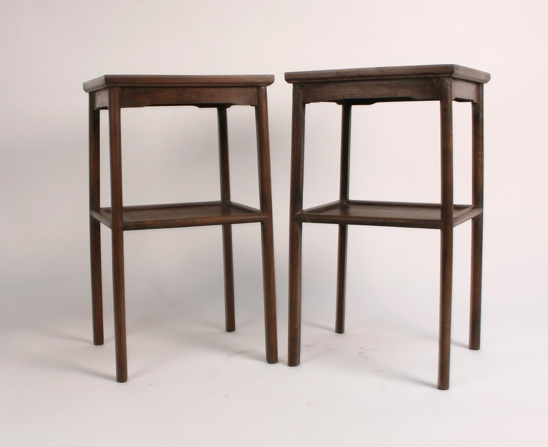 PAIR OF HUANGHUALI END TABLES