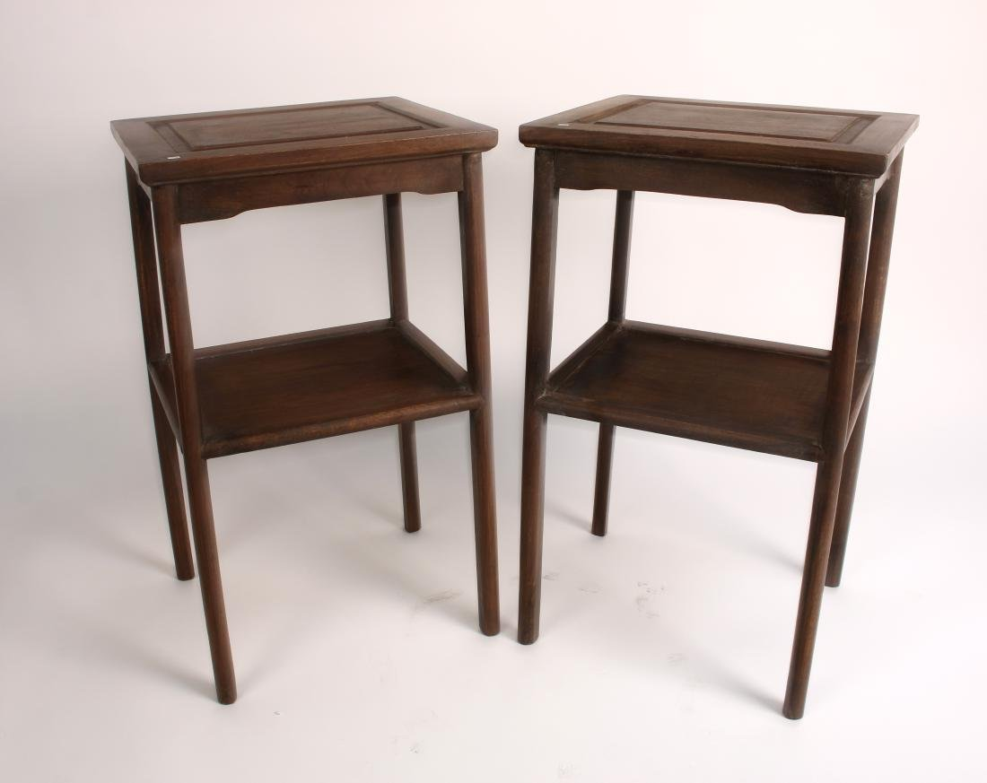 PAIR OF HUANGHUALI END TABLES - 2