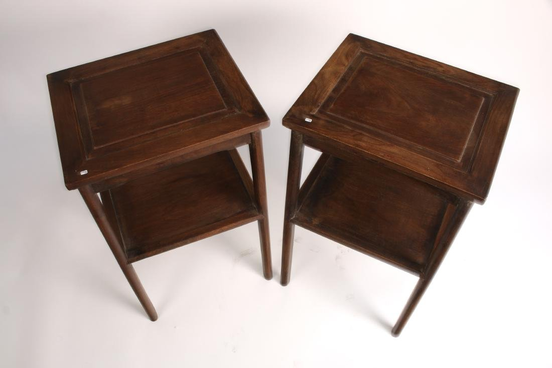 PAIR OF HUANGHUALI END TABLES - 3