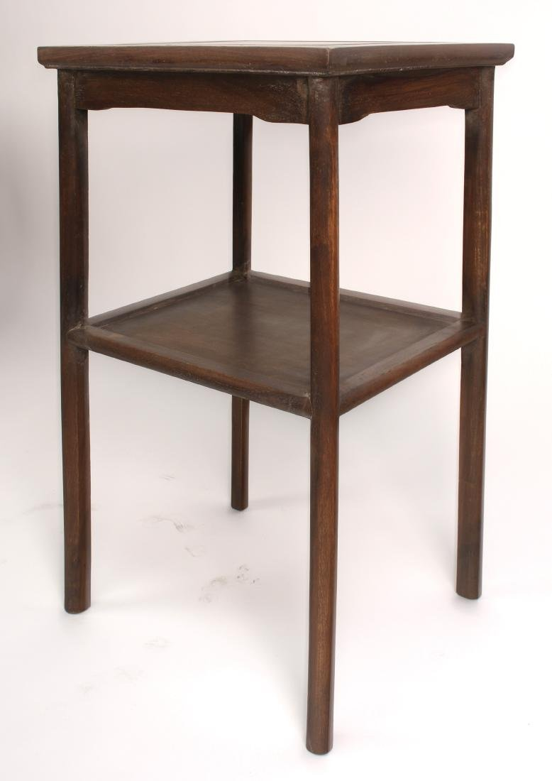 PAIR OF HUANGHUALI END TABLES - 4