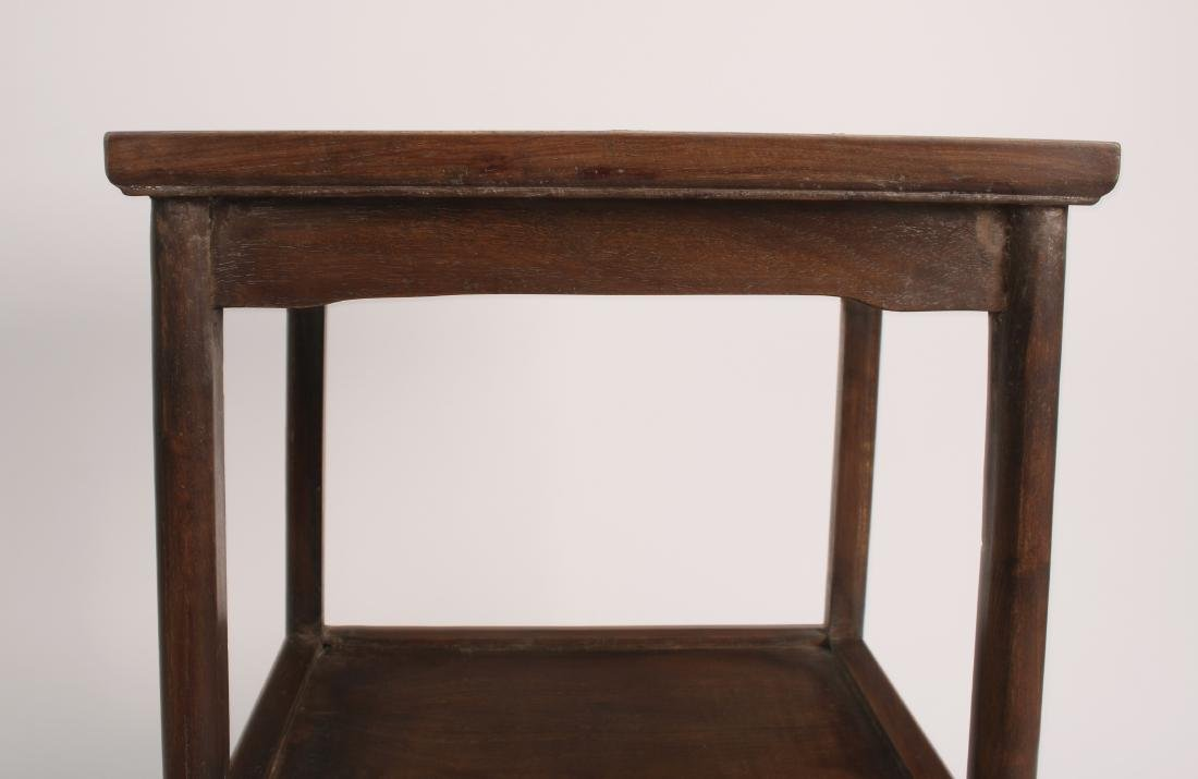 PAIR OF HUANGHUALI END TABLES - 5