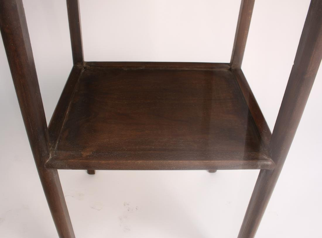 PAIR OF HUANGHUALI END TABLES - 7