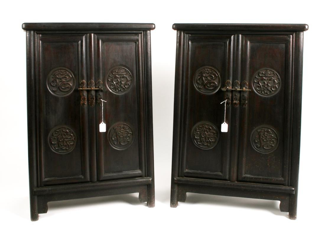 PAIR OF SHORT ZITAN CABINETS