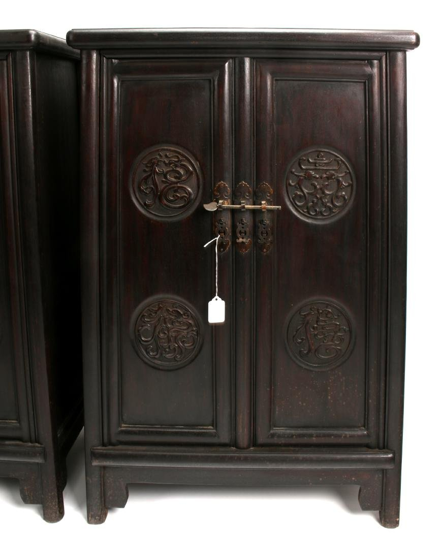 PAIR OF SHORT ZITAN CABINETS - 2