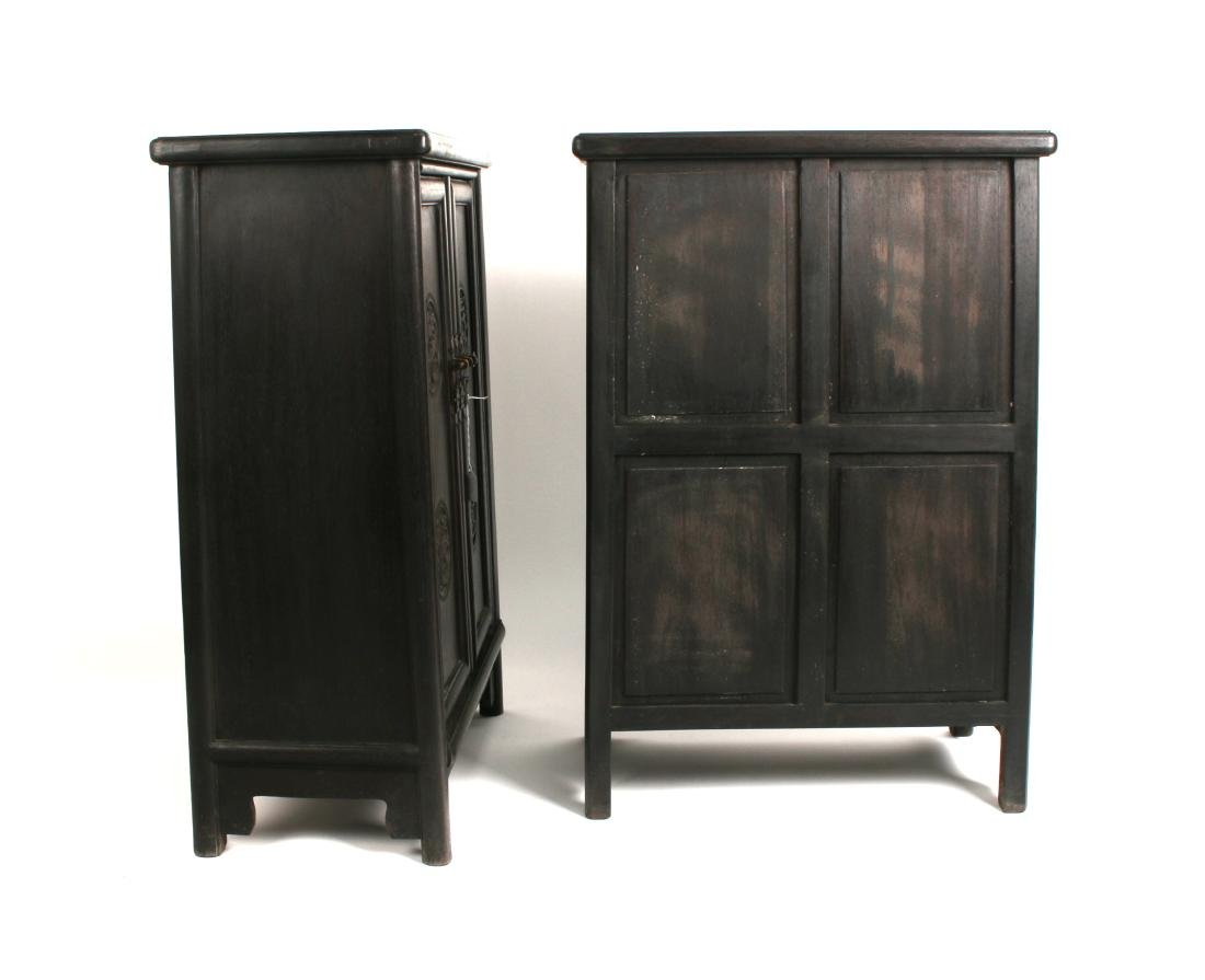PAIR OF SHORT ZITAN CABINETS - 8