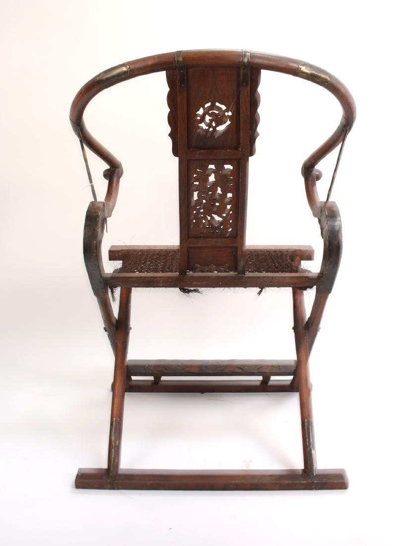 PAIR OF HUANGHUALI FOLDING CHAIRS - 8