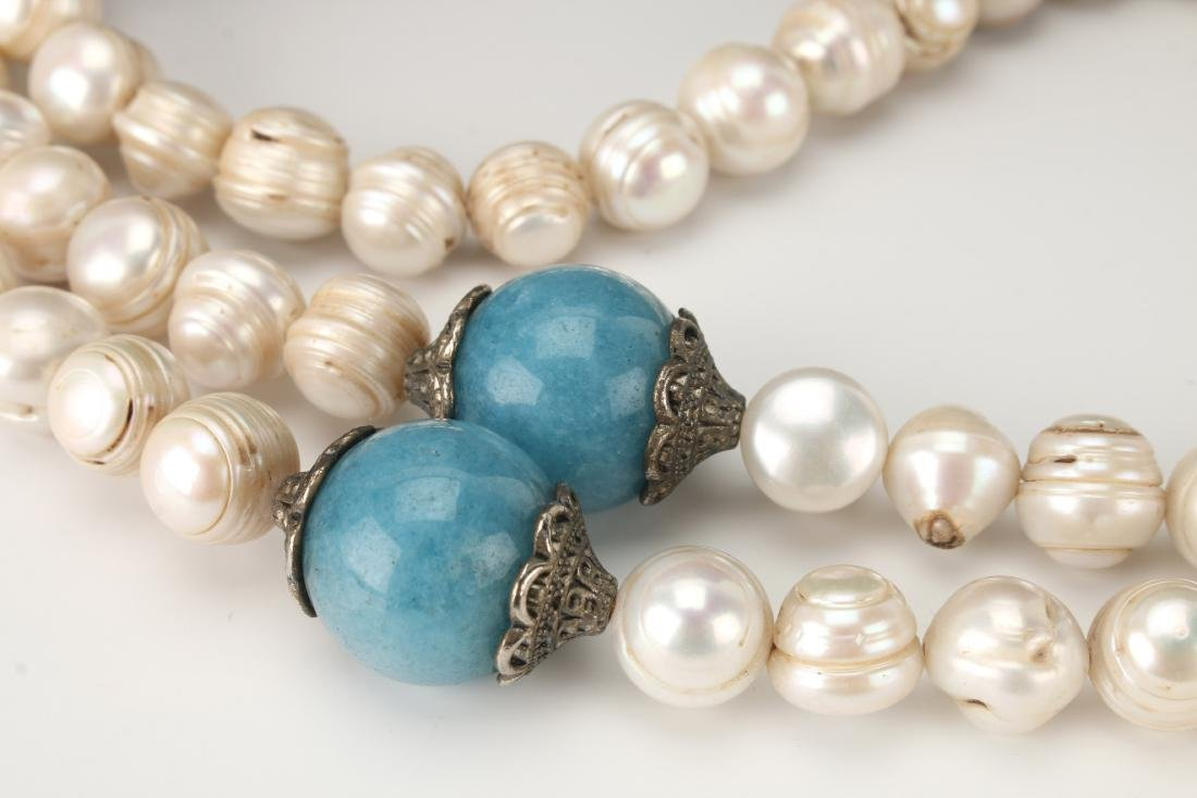 QING DYNASTY PEARL CHAO ZHU/COURT NECKLACE - 3