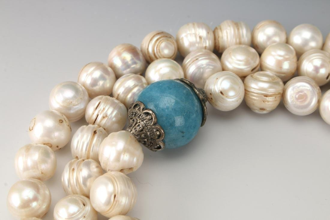 QING DYNASTY PEARL CHAO ZHU/COURT NECKLACE - 4