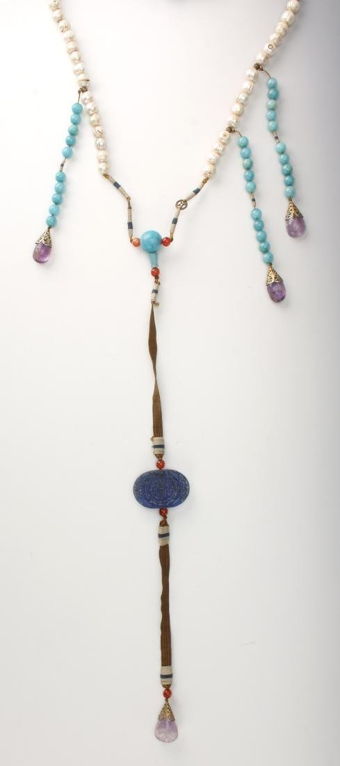 QING DYNASTY PEARL CHAO ZHU/COURT NECKLACE - 5