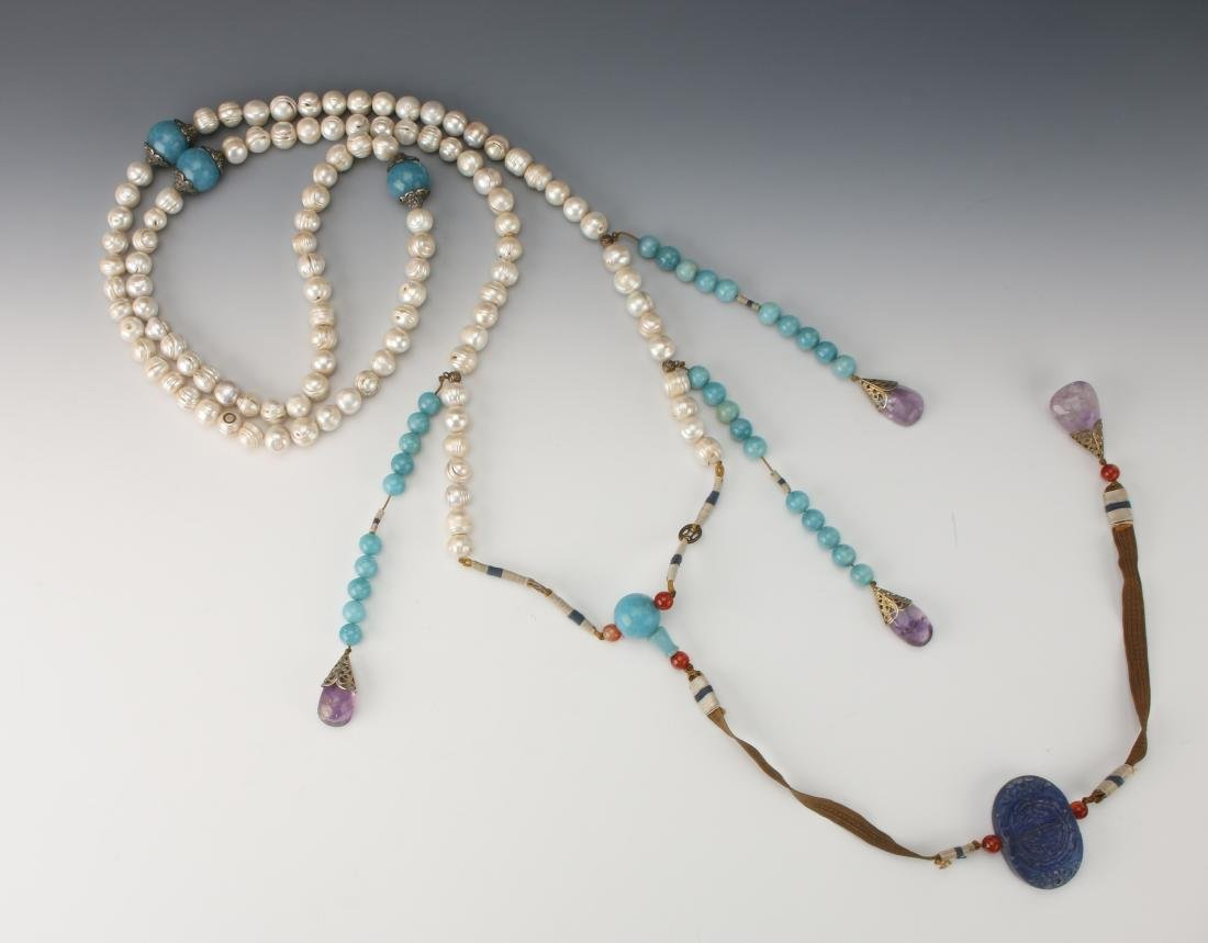 QING DYNASTY PEARL CHAO ZHU/COURT NECKLACE - 8