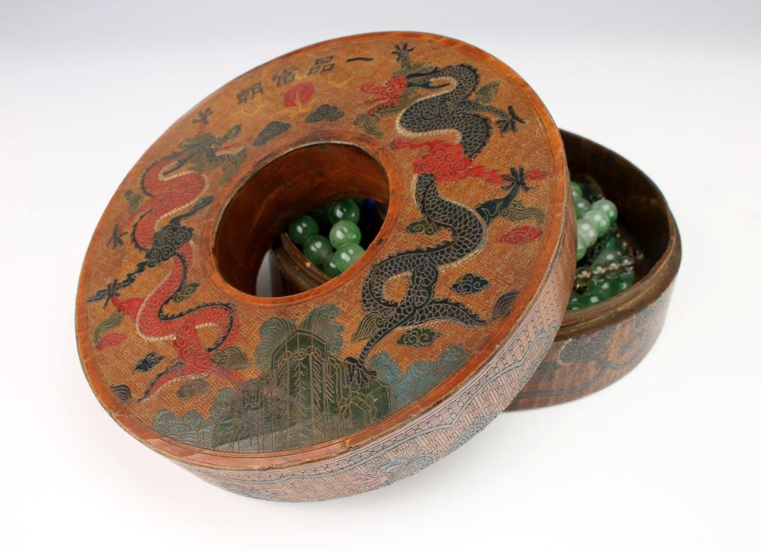 QING JADEITE COURT NECKLACE BOX WITH CHAO ZHU - 2