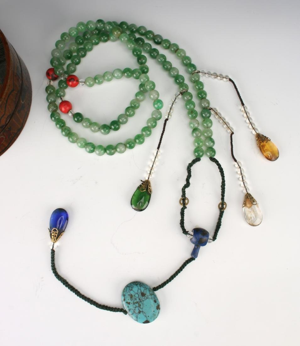 QING JADEITE COURT NECKLACE BOX WITH CHAO ZHU - 3