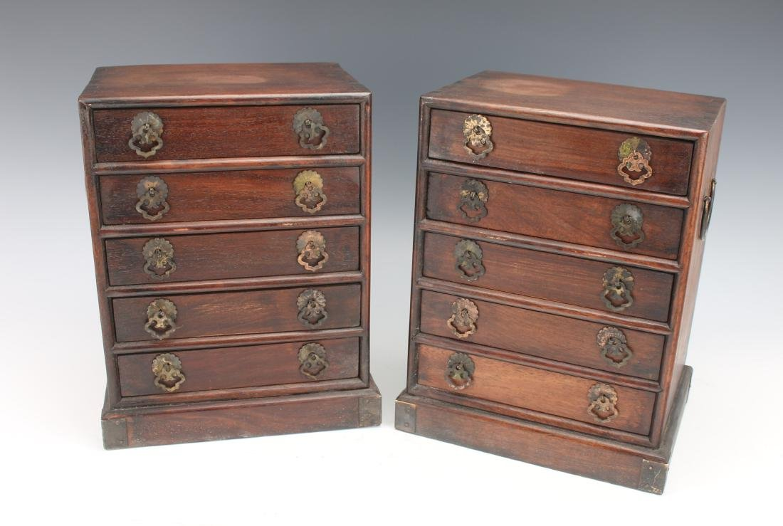 PAIR OF JEWELRY BOX WITH 5 DRAWERS