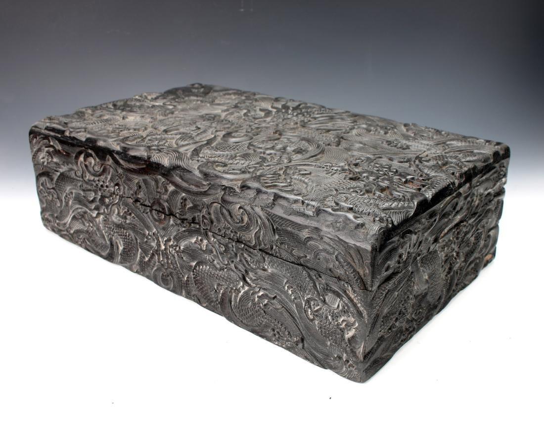 CARVED ZITAN DRAGON BOX