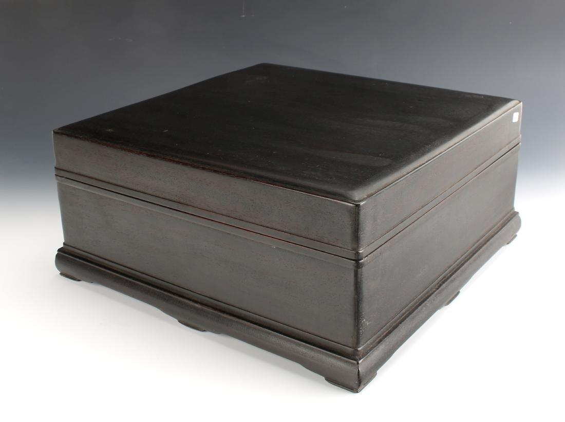LARGE SQUARE ZITAN SCHOLAR'S BOX
