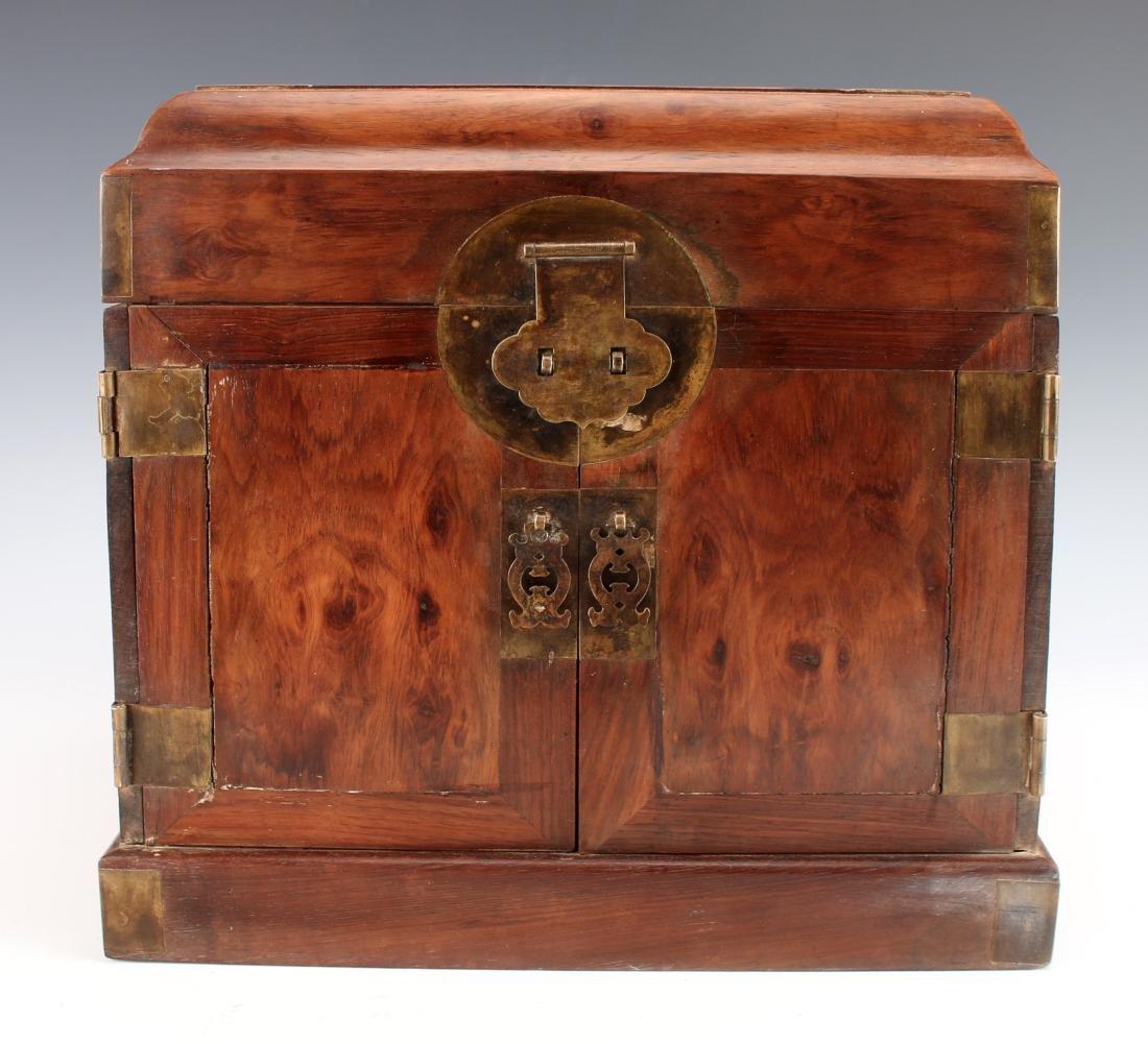 HUANGHUALI HINGED JEWELRY BOX