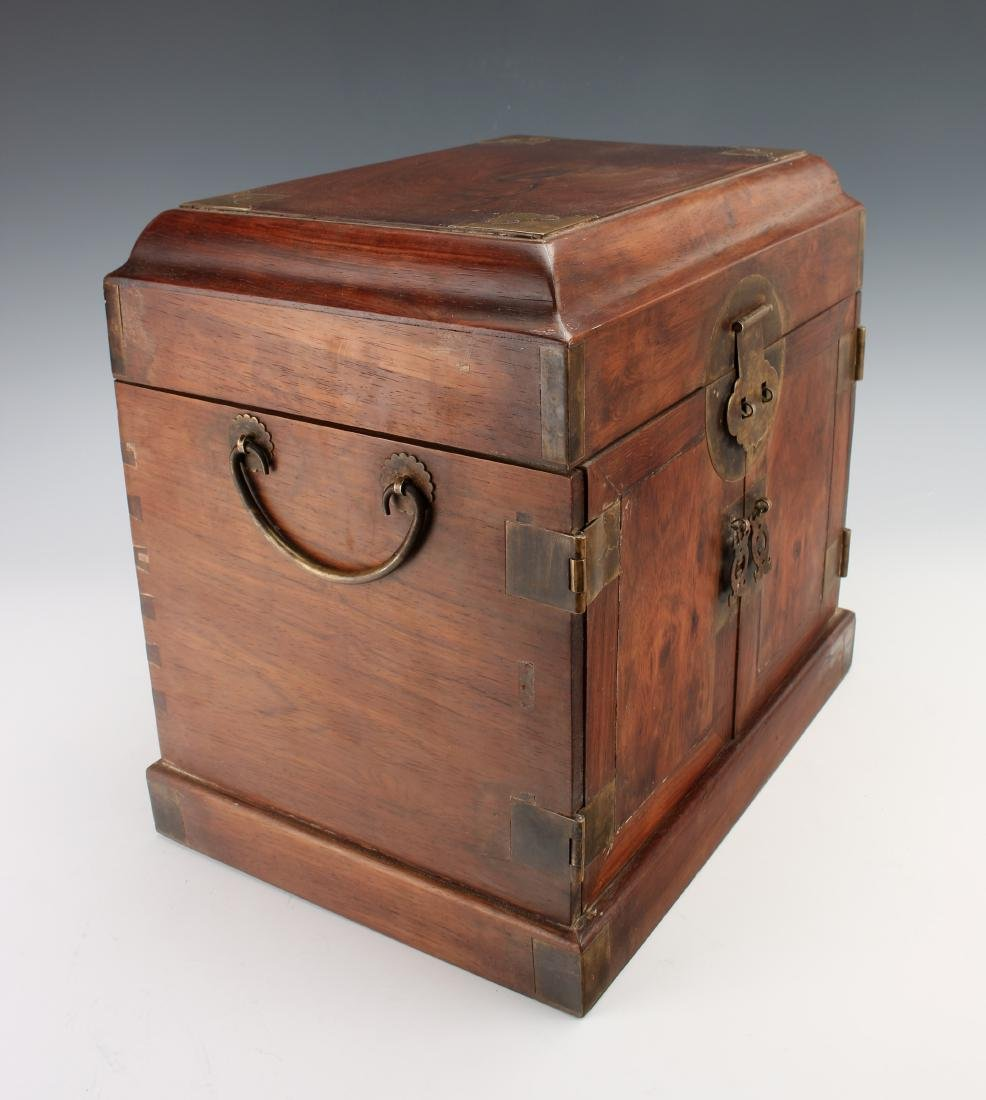 HUANGHUALI HINGED JEWELRY BOX - 5