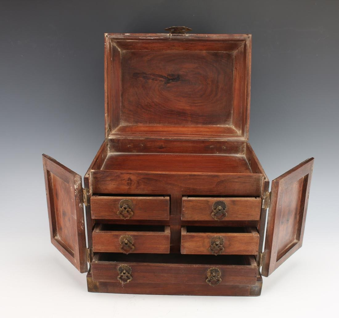 HUANGHUALI HINGED JEWELRY BOX - 7