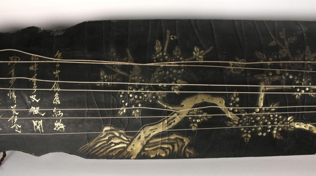 BLACK LACQUER GUQIN WITH TRAVEL BAG - 2