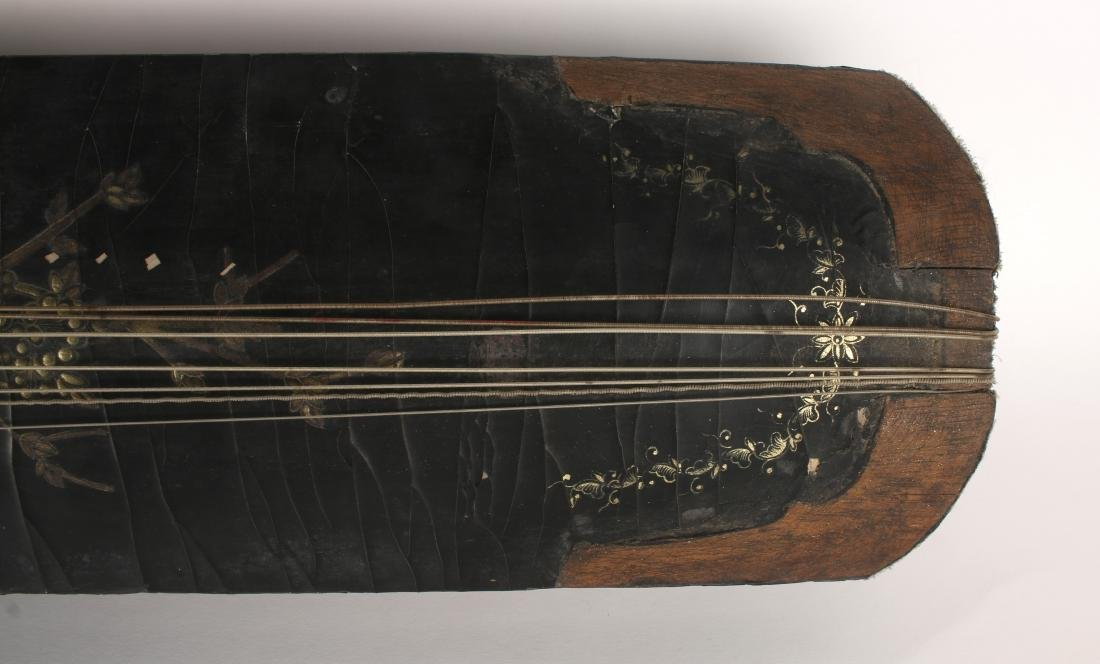 BLACK LACQUER GUQIN WITH TRAVEL BAG - 5