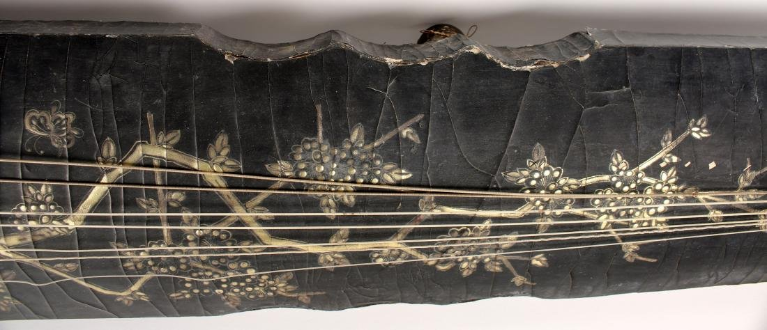 BLACK LACQUER GUQIN WITH TRAVEL BAG - 8