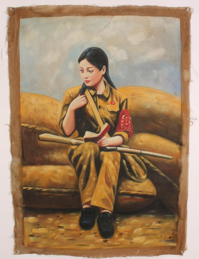 PAINTING OF REVOLUTIONARY GIRL