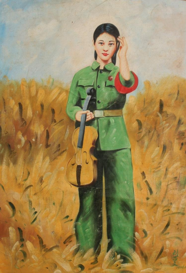 PAINTING OF REVOLUTIONARY GIRL