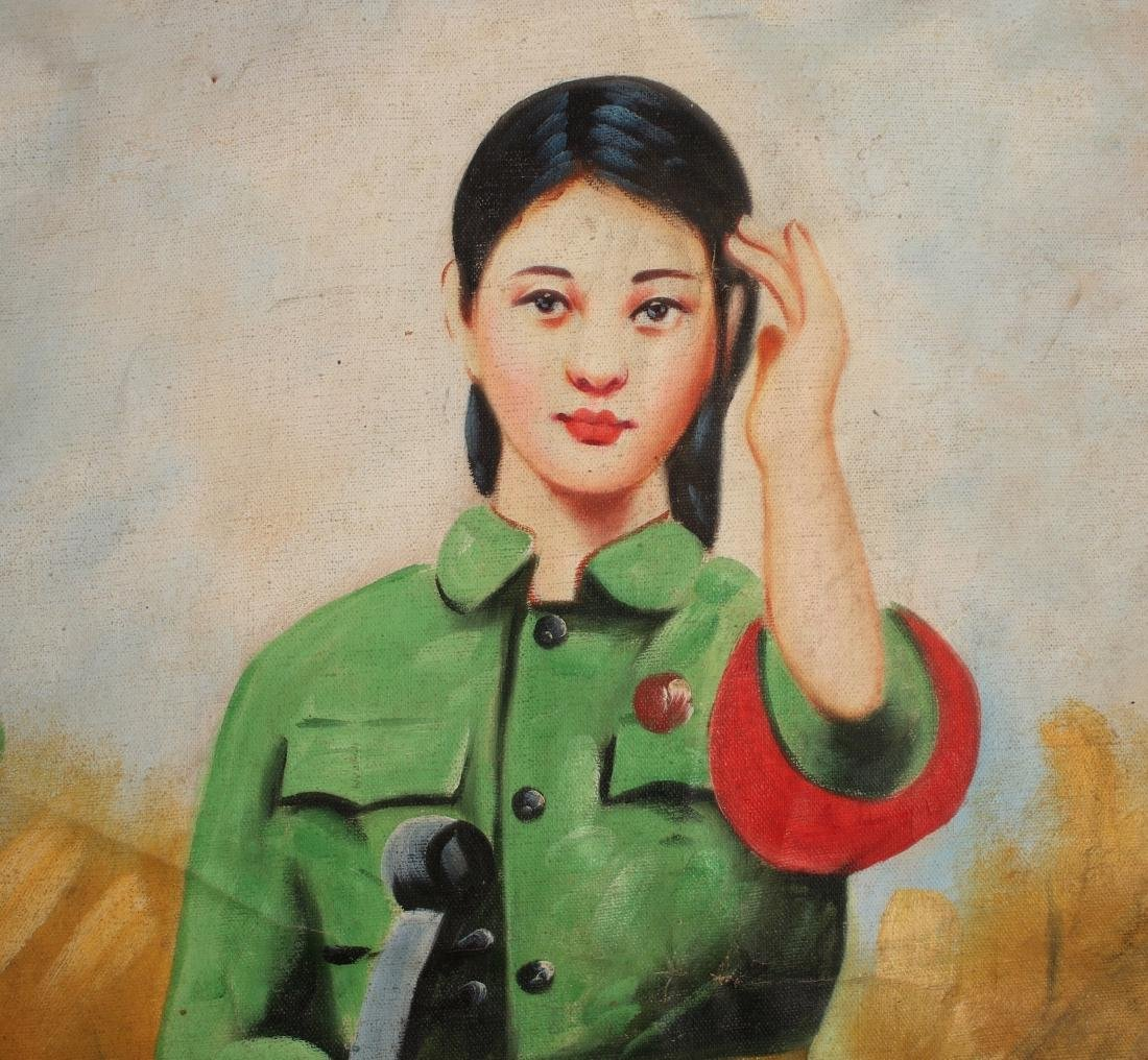 PAINTING OF REVOLUTIONARY GIRL - 3