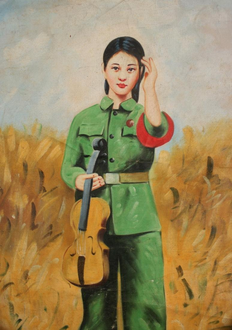 PAINTING OF REVOLUTIONARY GIRL - 4