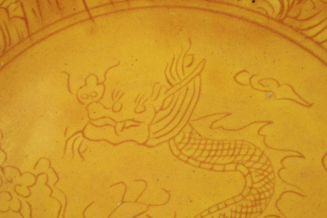 YELLOW DISH WITH DRAGON - 3