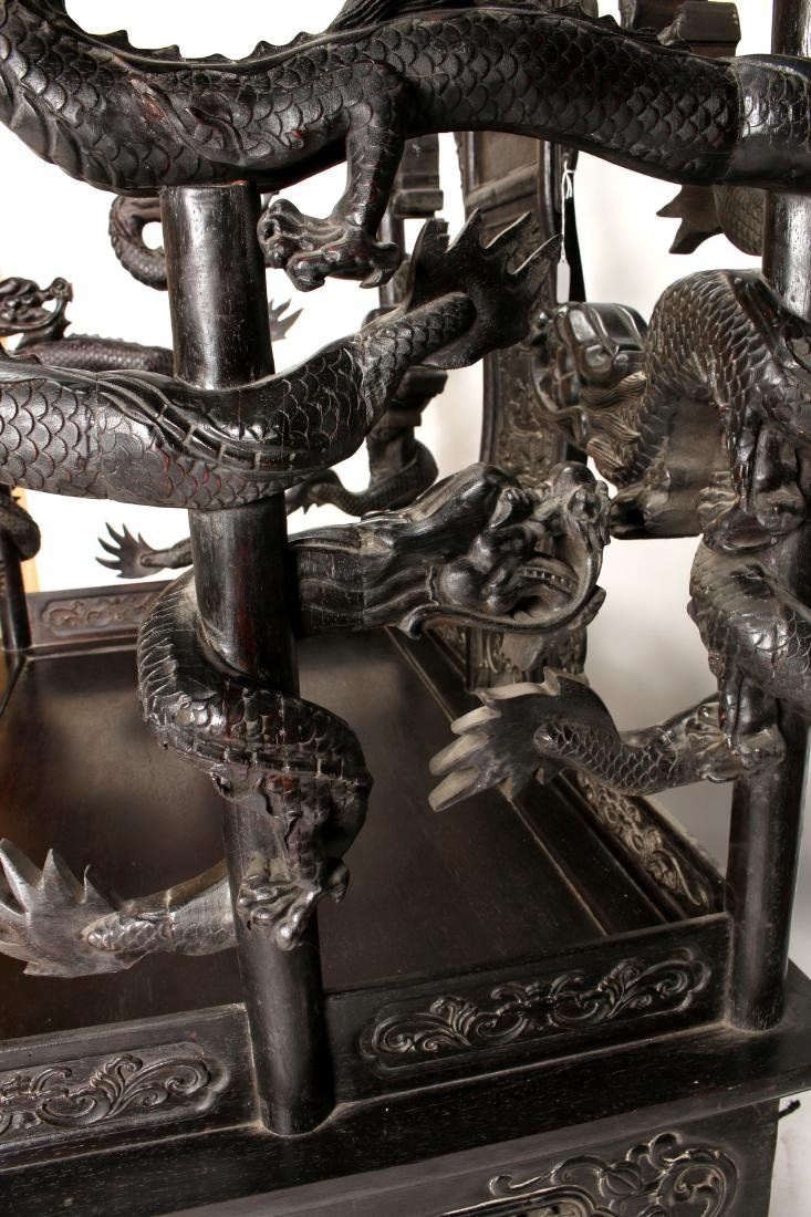 IMPRESSIVE 20TH C DRAGON ZITAN THRONE - 10
