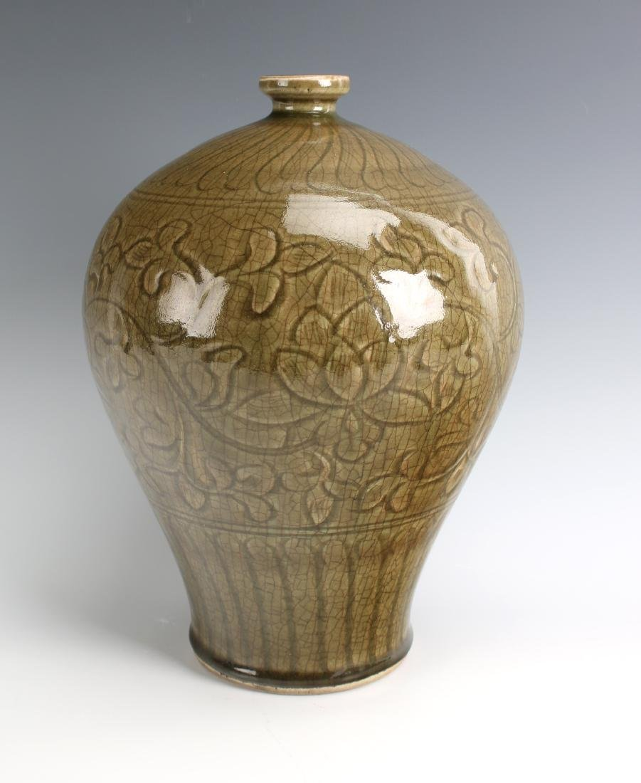 GREEN MEIPING VASE - 2