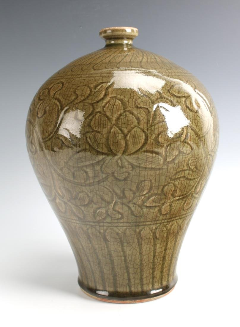 GREEN MEIPING VASE - 6