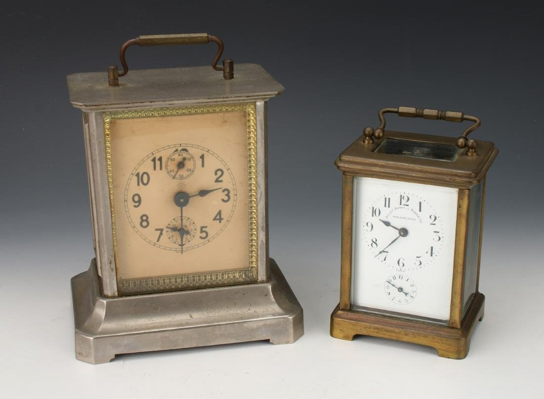 5 ASSORTED CLOCKS: CARRIAGE, TRAVEL, ANNIVERSARY - 2