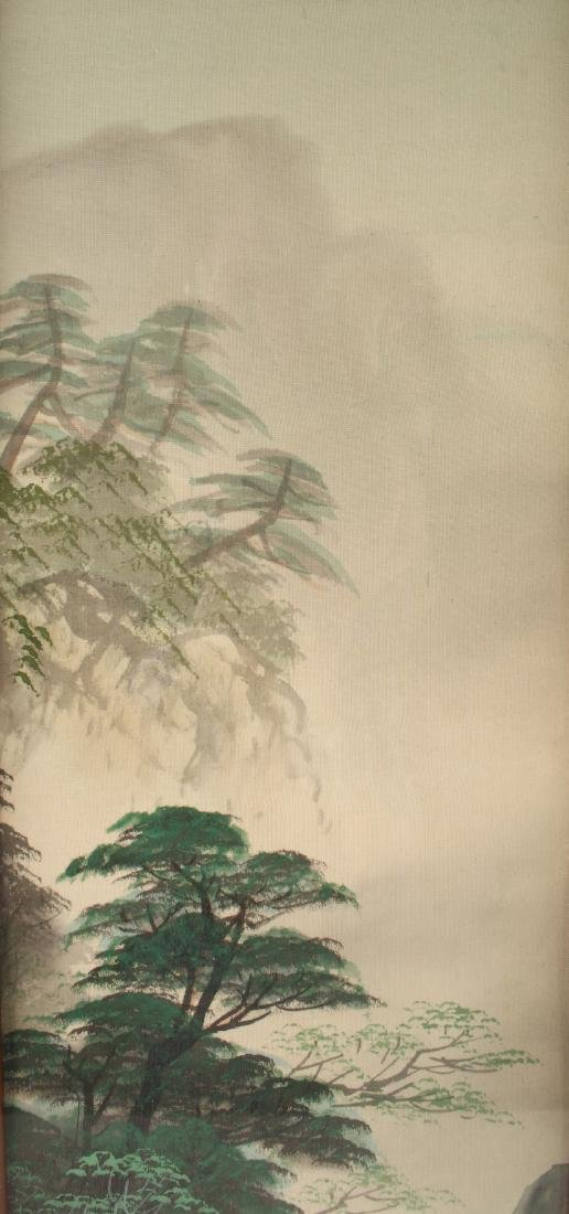 TWO CHINESE WATERCOLOR PAINTINGS ON SILK - 4