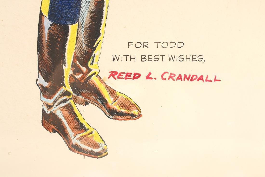 "FLASH GORDON PRINT SIGNED ""REED L. CRANDALL"" - 2"