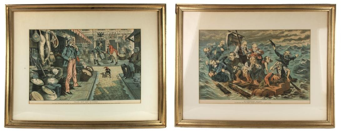 TWO POLITICAL PRINTS BY VICTOR GILLAM