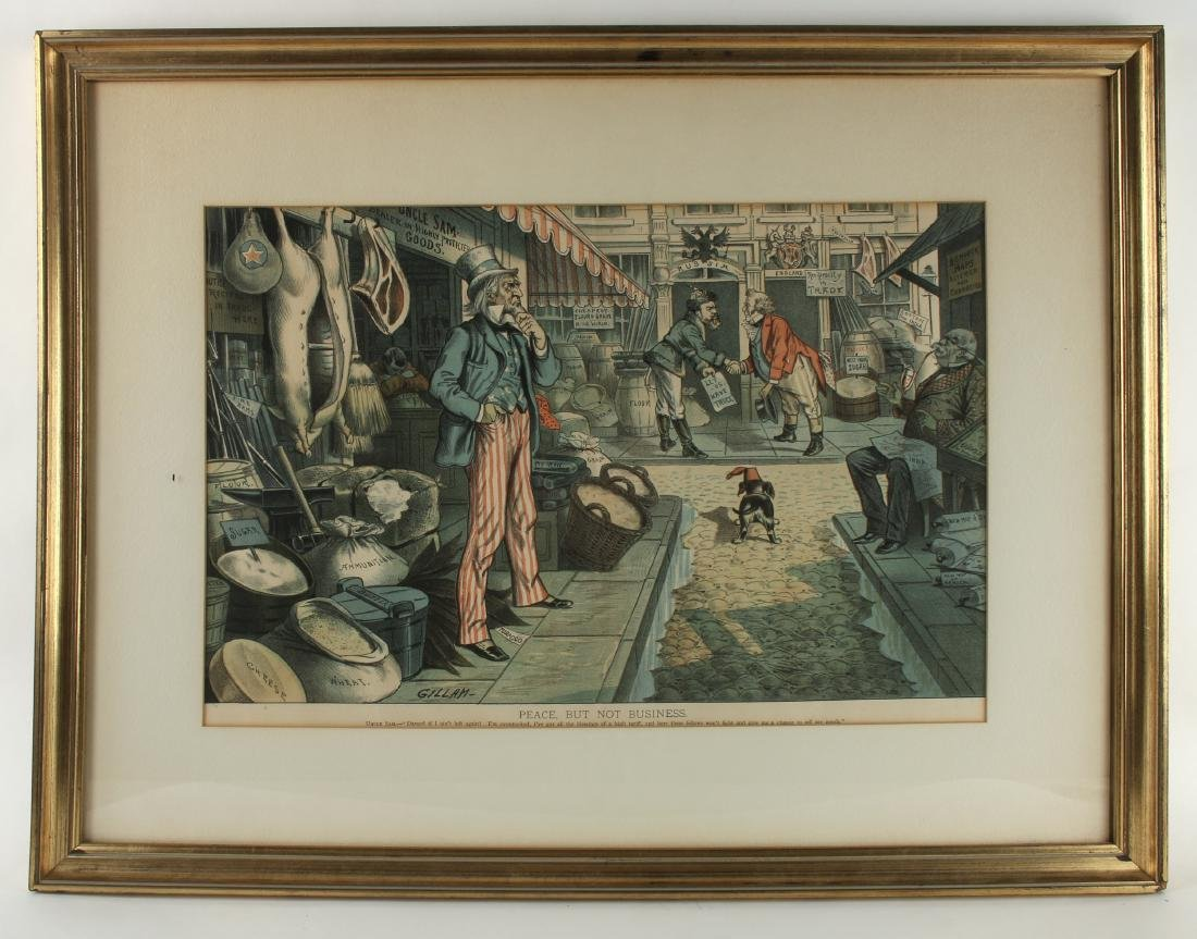 TWO POLITICAL PRINTS BY VICTOR GILLAM - 3