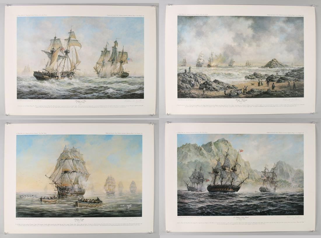 14 RICHARD WILLIS SIGNED NUMBERED SHIP PRINTS