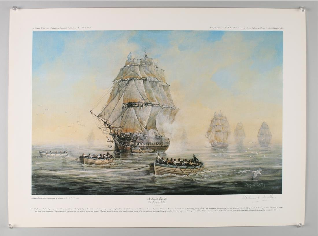 14 RICHARD WILLIS SIGNED NUMBERED SHIP PRINTS - 2