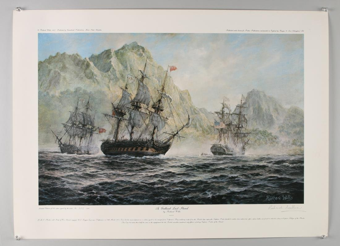 14 RICHARD WILLIS SIGNED NUMBERED SHIP PRINTS - 3