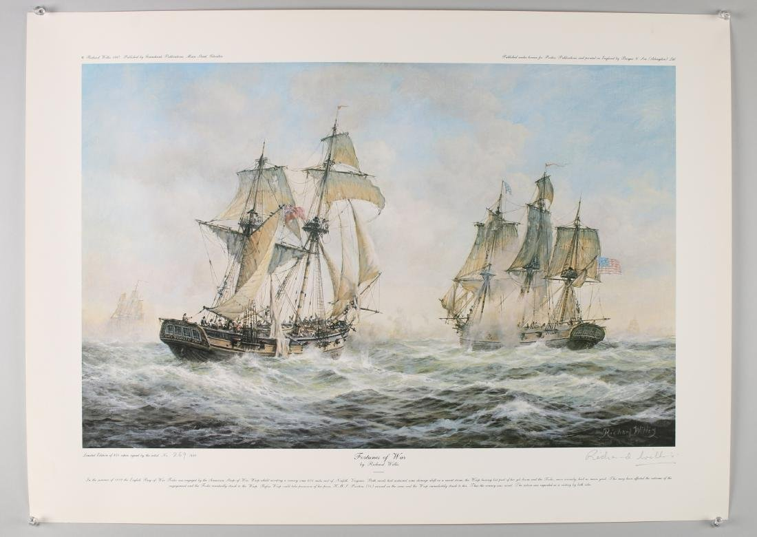 14 RICHARD WILLIS SIGNED NUMBERED SHIP PRINTS - 5
