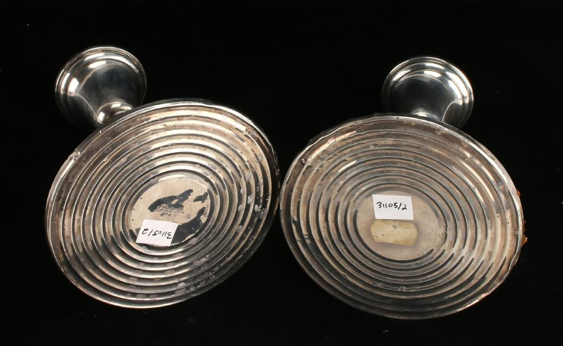 PAIR PREISNER WEIGHTED STERLING CANDLE STICKS - 7