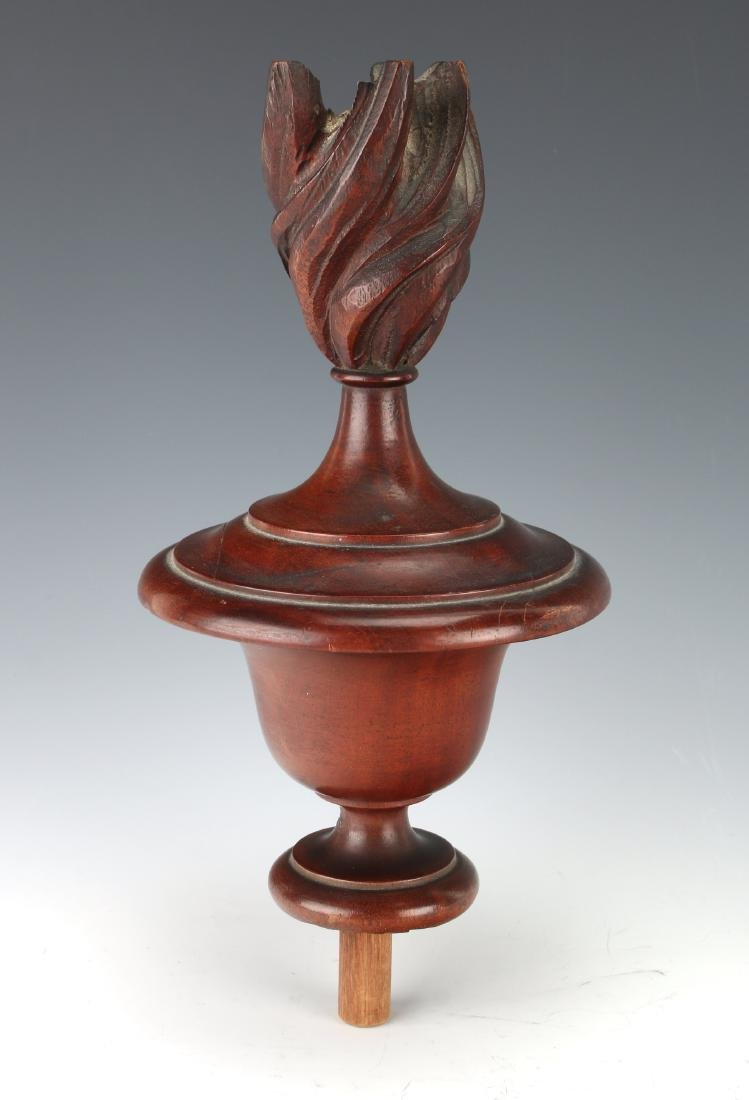 LARGE WOODEN FURNITURE FINIAL